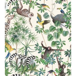 Tissu La Jungle des animaux...