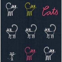 Popeline bio Cats