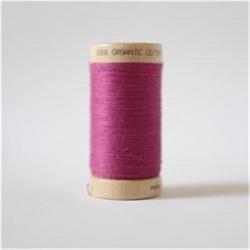 Bobine fil coton bio rose -...