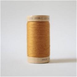 Bobine fil coton bio Ocre -...