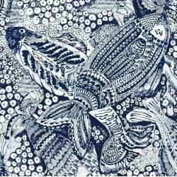 Tissu Poisson d'Avril -...